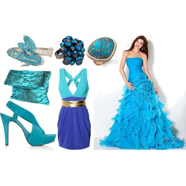бирюзовый и синий новый год 2012