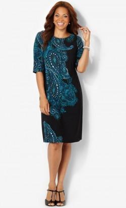Нарядное платье для новогодних торжеств полной женщине 40-50 лет