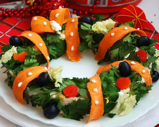салат рождественский венок