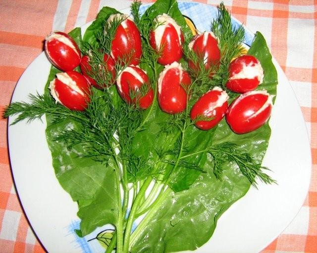 закуска тюльпаны