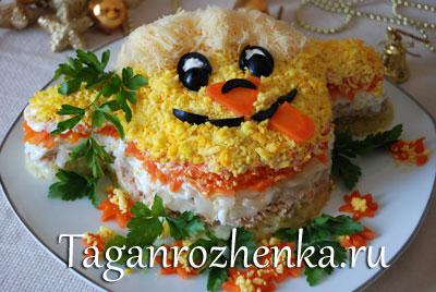 новогоднее украшение блюд ОВЦА